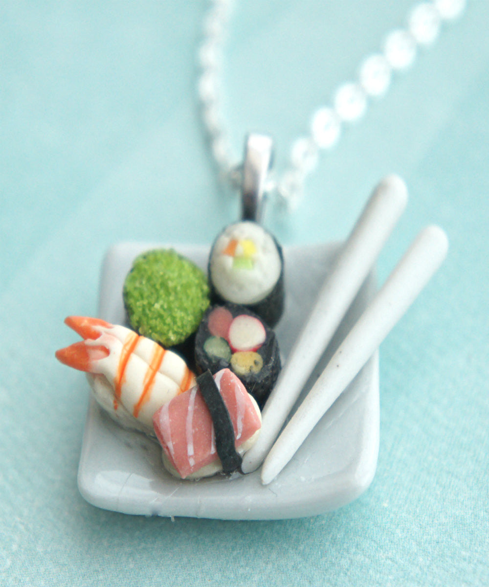Sushi Plate Necklace - Jillicious charms and accessories