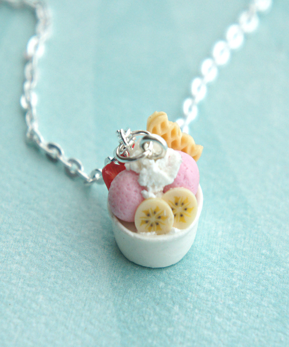 frozen yogurt necklace - Jillicious charms and accessories