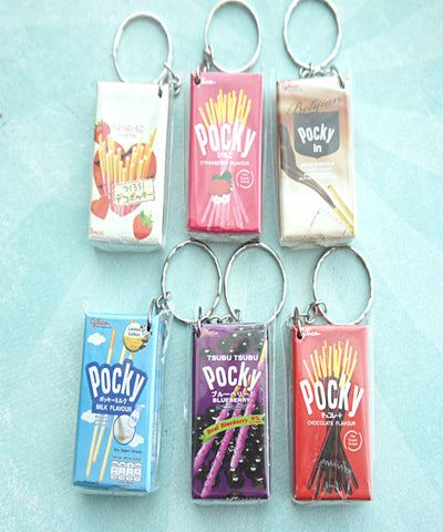 Pocky Snack Boxes Keychain - Jillicious charms and accessories - 1