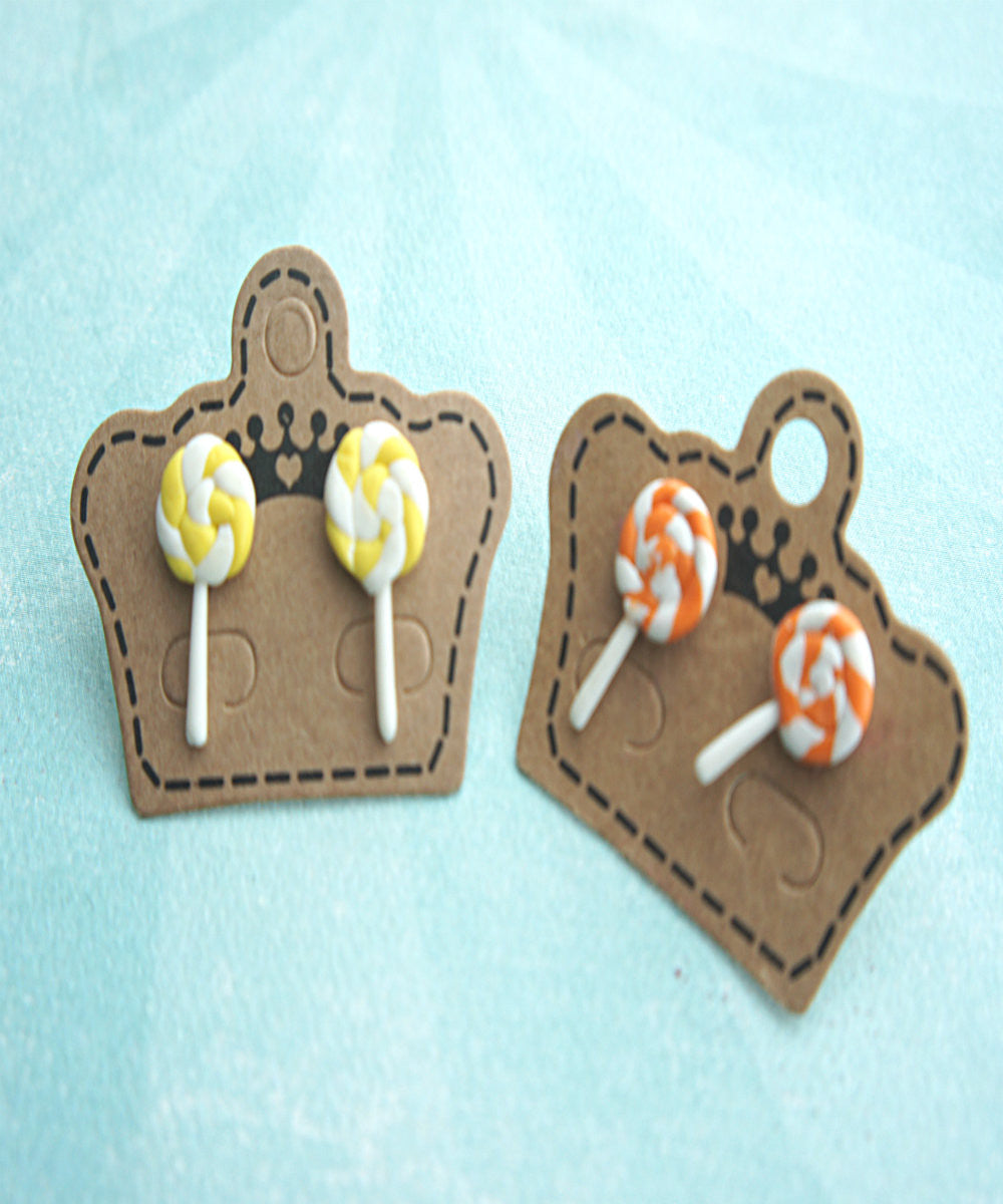 Lollipop Swirl Stud Earrings - Jillicious charms and accessories - 3