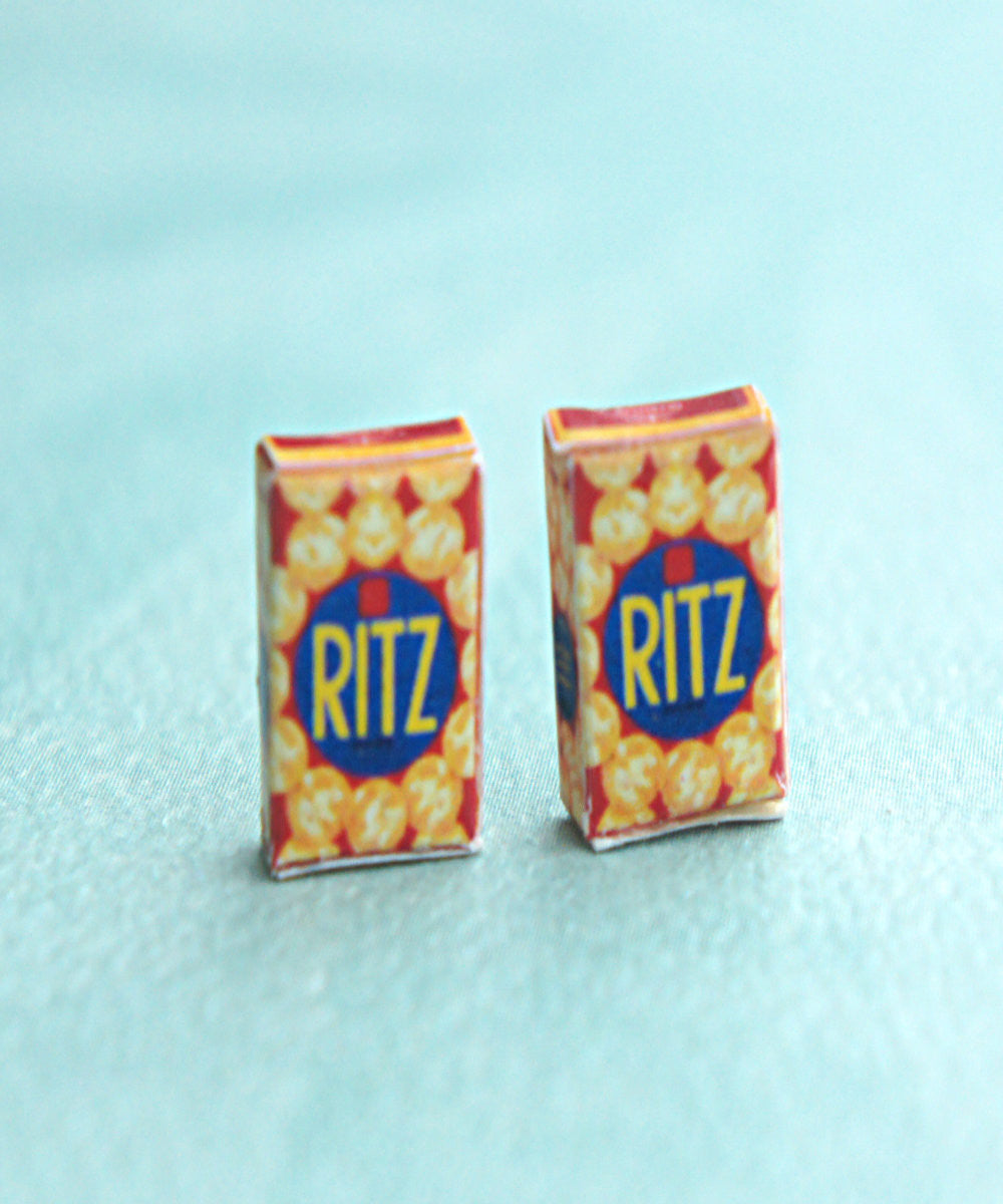 Ritz Crackers Box Stud Earrings - Jillicious charms and accessories - 2