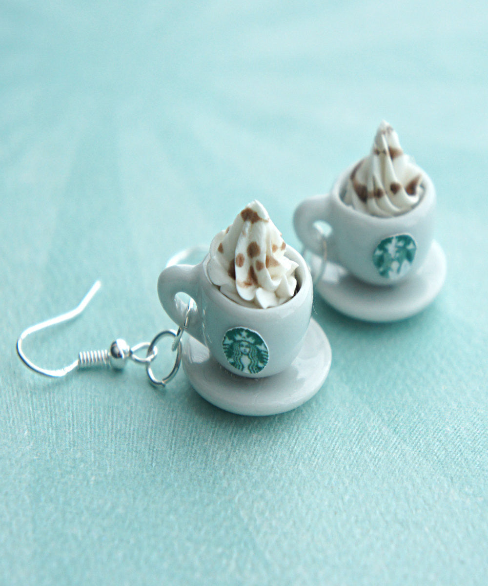 Starbucks Coffee Dangle Earrings - Jillicious charms and accessories