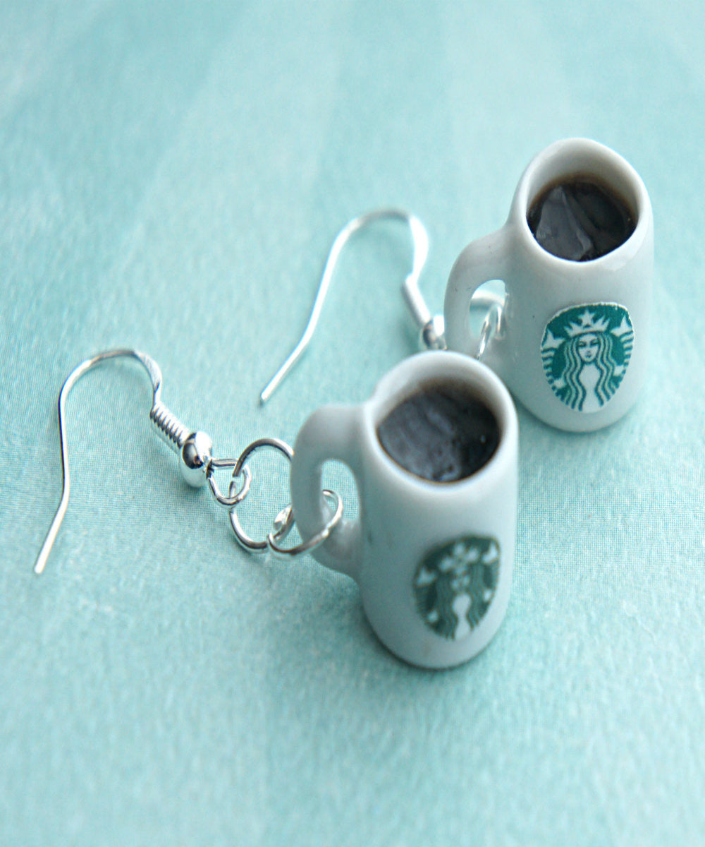 Starbucks Black Coffee Dangle Earrings - Jillicious charms and accessories - 2