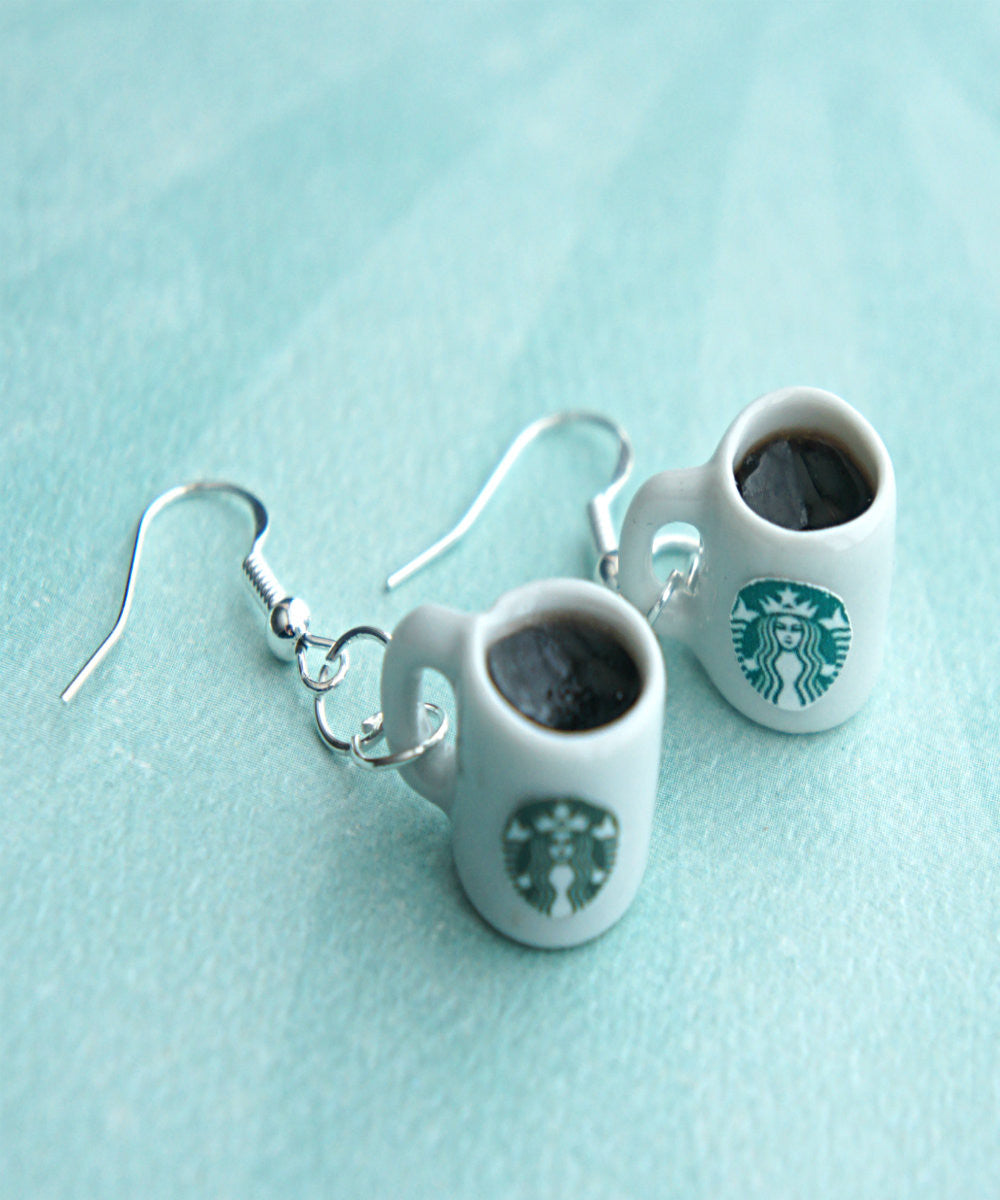 Starbucks Black Coffee Dangle Earrings - Jillicious charms and accessories - 3