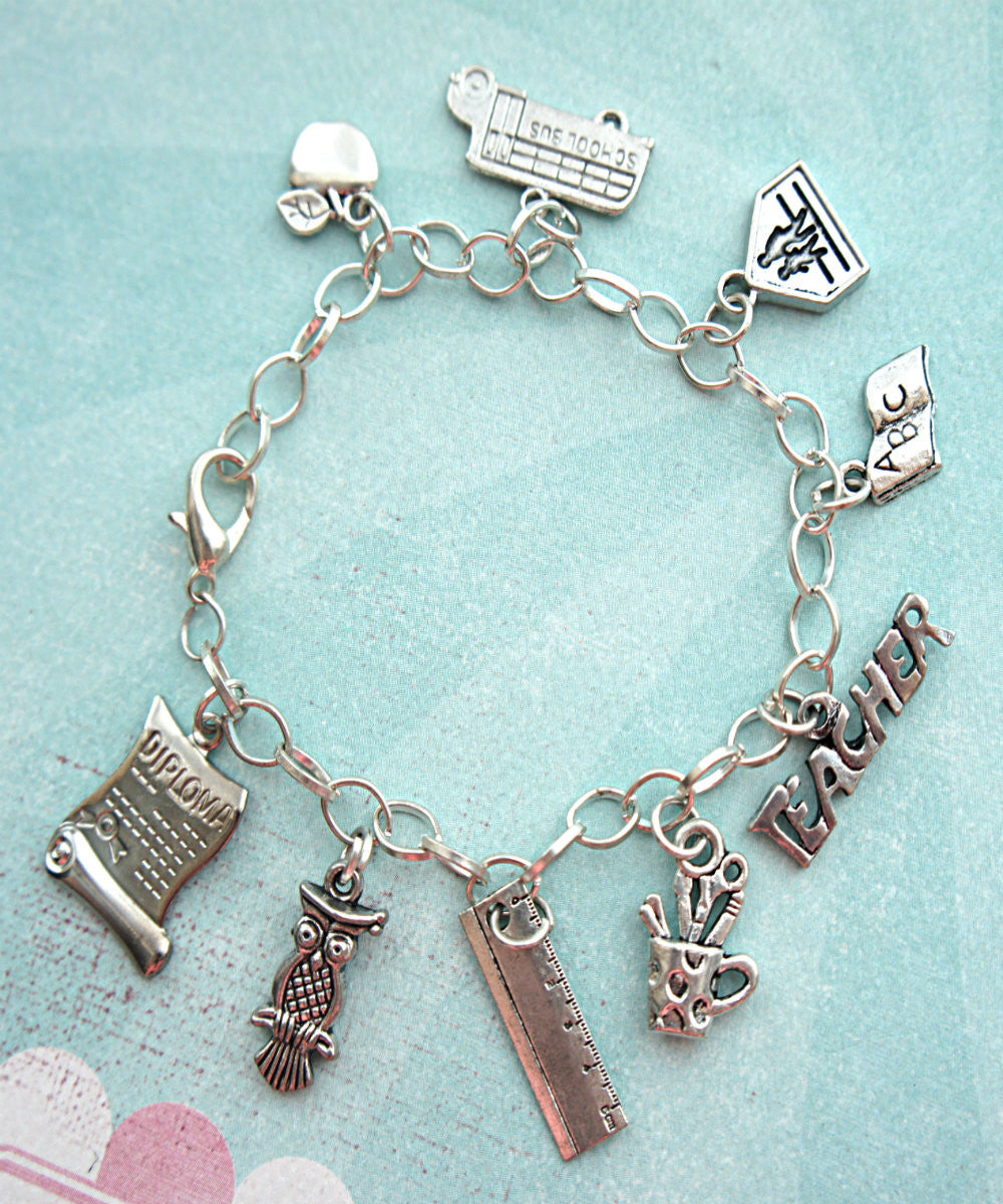 Teacher's Charm Bracelet - Jillicious charms and accessories - 1