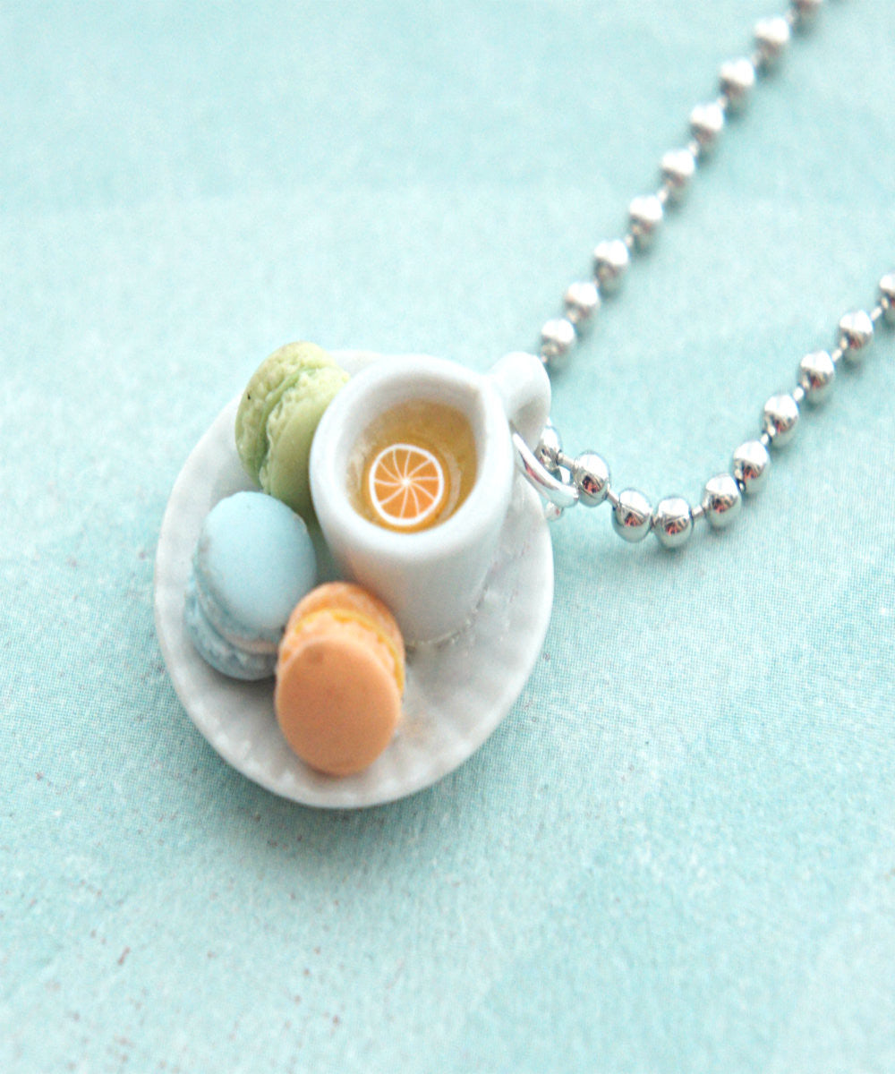 french macarons and tea necklace - Jillicious charms and accessories - 2