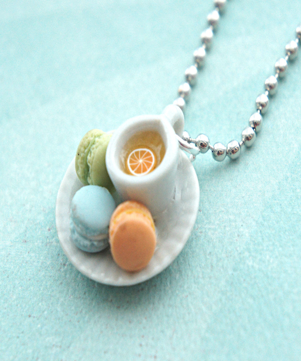 french macarons and tea necklace - Jillicious charms and accessories