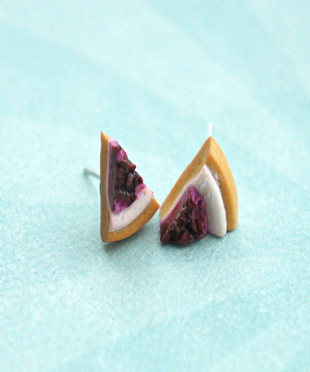 Cheesecake Stud Earrings - Jillicious charms and accessories