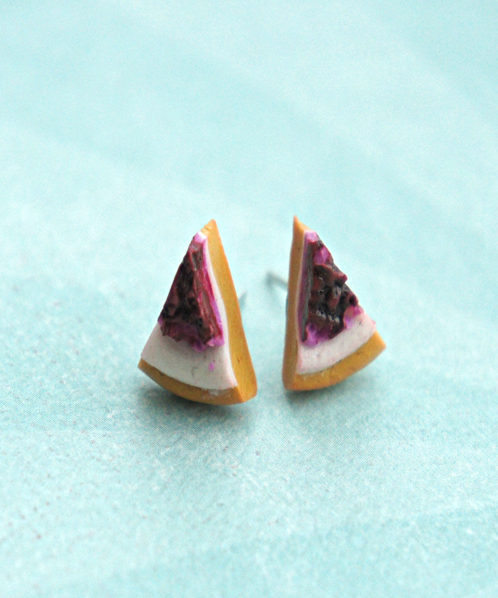 cheesecake stud earrings - Jillicious charms and accessories - 3