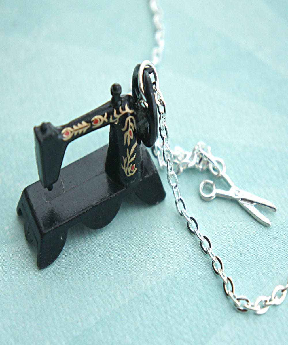 Vintage Sewing Machine Necklace - Jillicious charms and accessories - 2