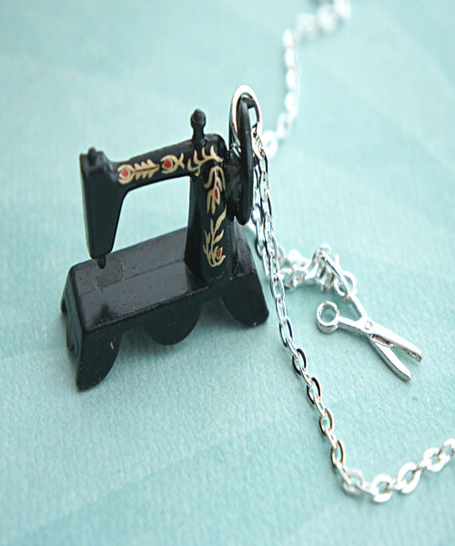 Vintage Sewing Machine Necklace - Jillicious charms and accessories
