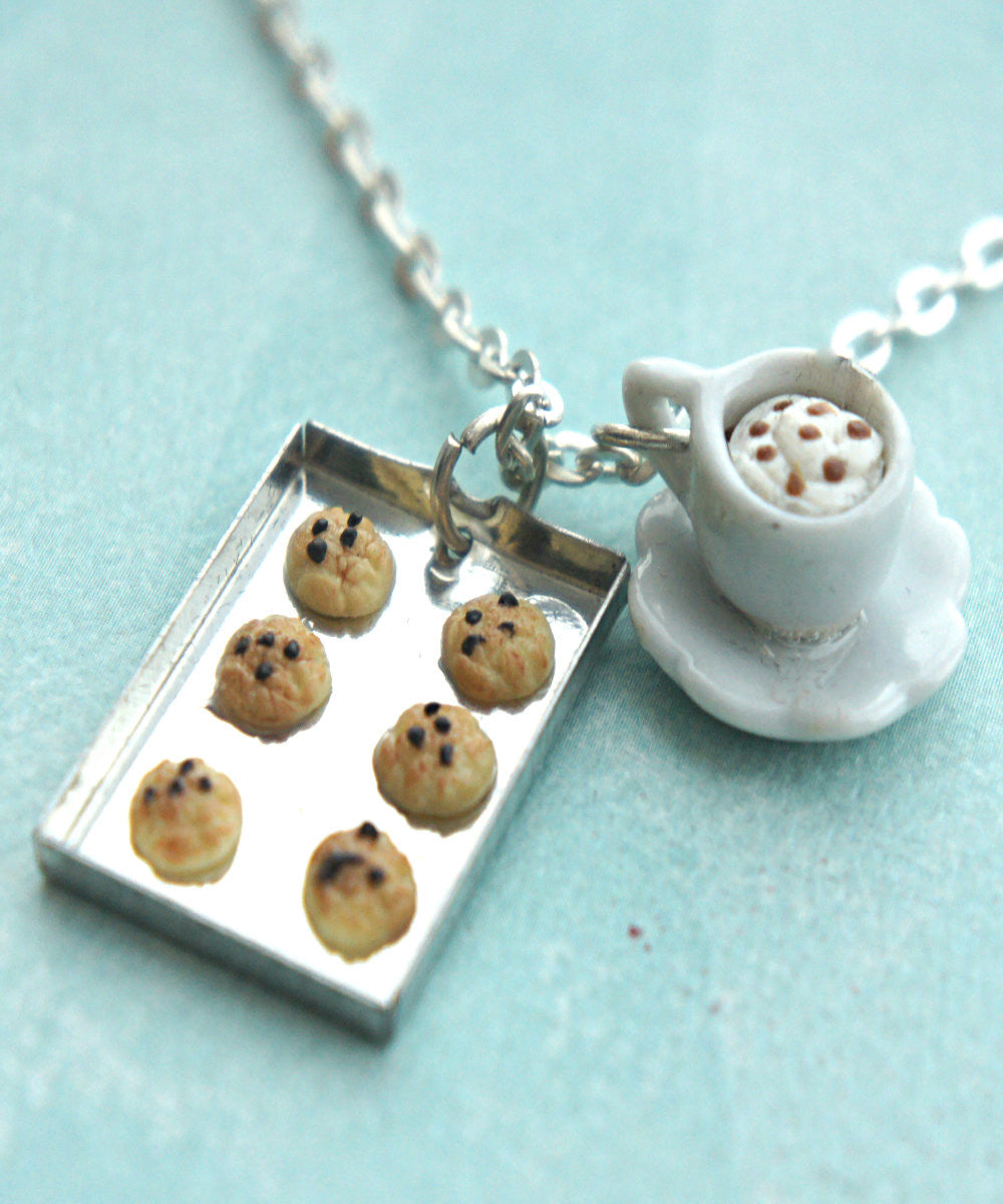 cookies and cappuccino necklace - Jillicious charms and accessories