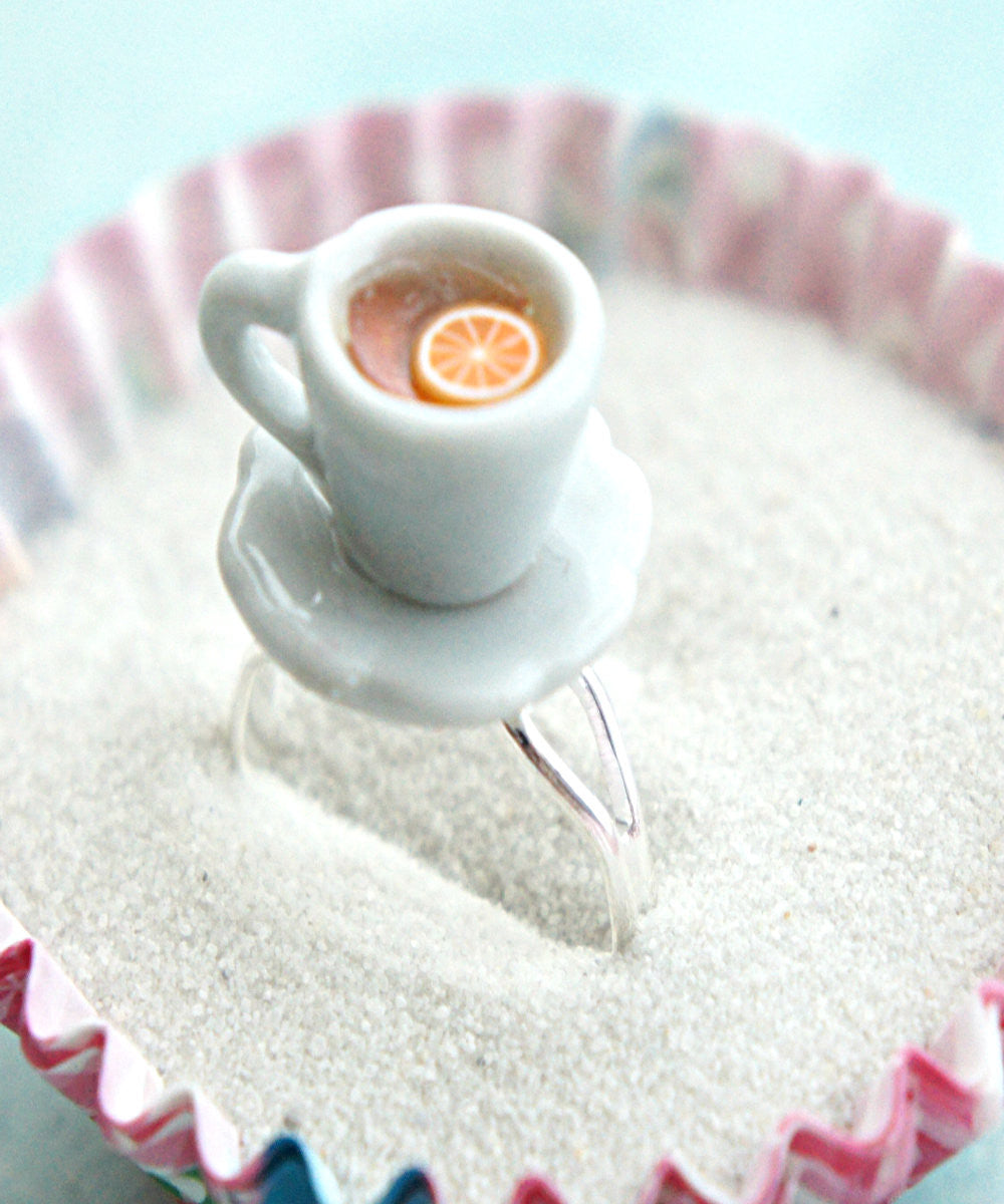 Lemon Tea Cup Ring - Jillicious charms and accessories