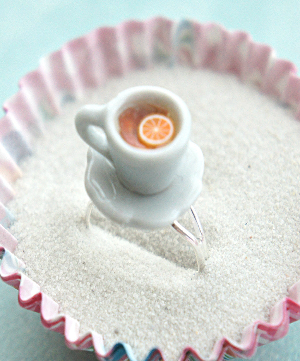 Lemon Tea Cup Ring - Jillicious charms and accessories - 3