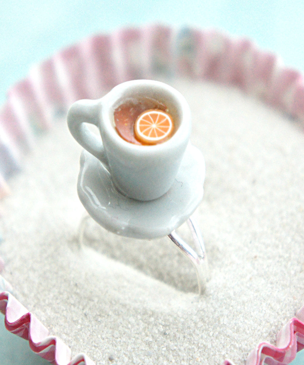 Lemon Tea Cup Ring - Jillicious charms and accessories - 1