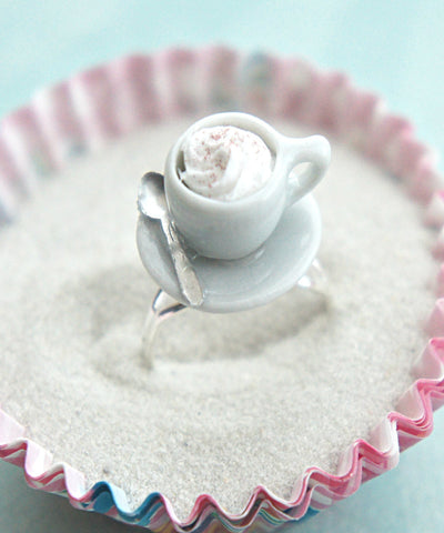 cappuccino cup ring - Jillicious charms and accessories