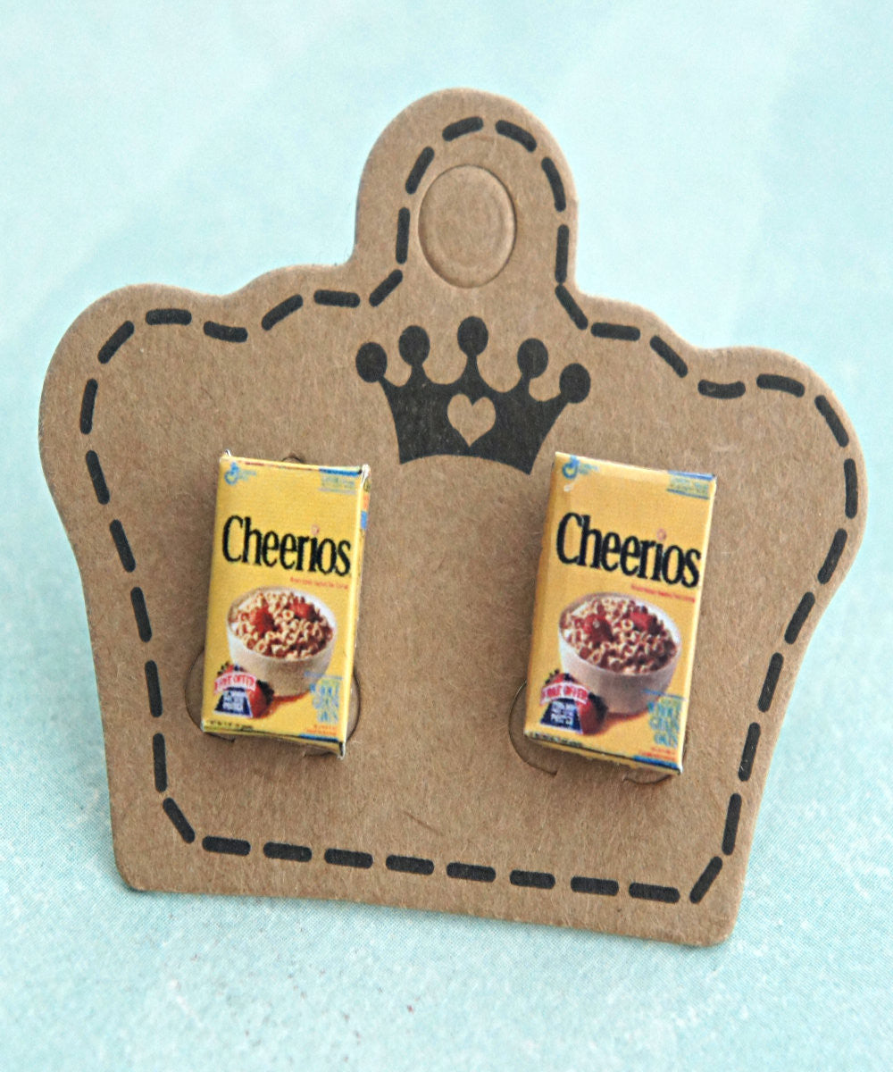 cheerios cereal box earrings - Jillicious charms and accessories