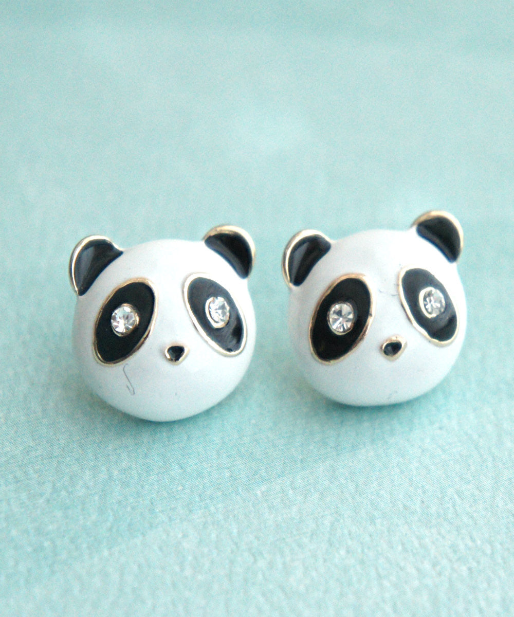 Panda Stud Earrings - Jillicious charms and accessories