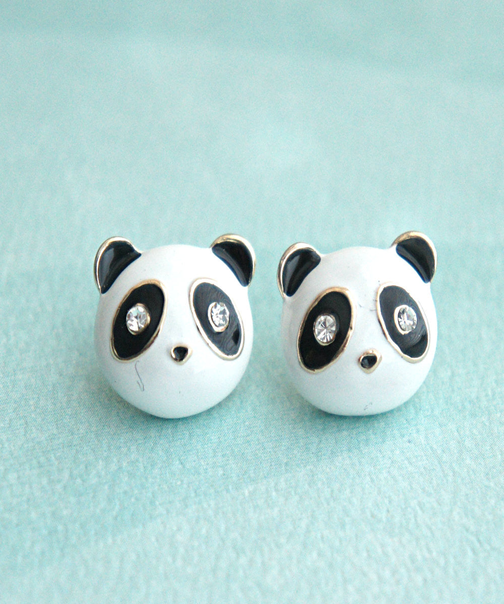 Panda Stud Earrings - Jillicious charms and accessories - 1