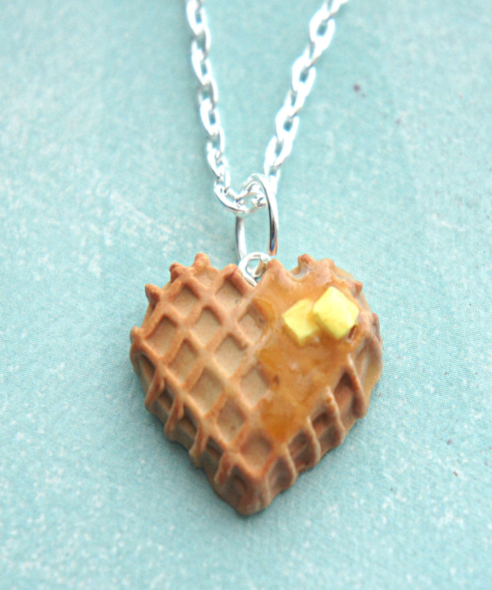 Heart Waffle Necklace - Jillicious charms and accessories - 2