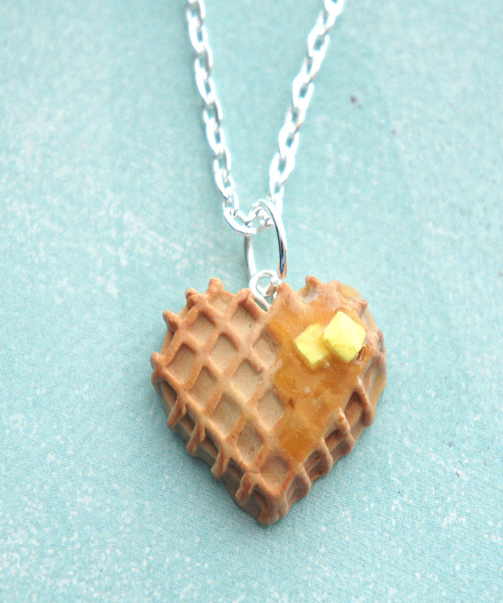 Heart Waffle Necklace - Jillicious charms and accessories - 1