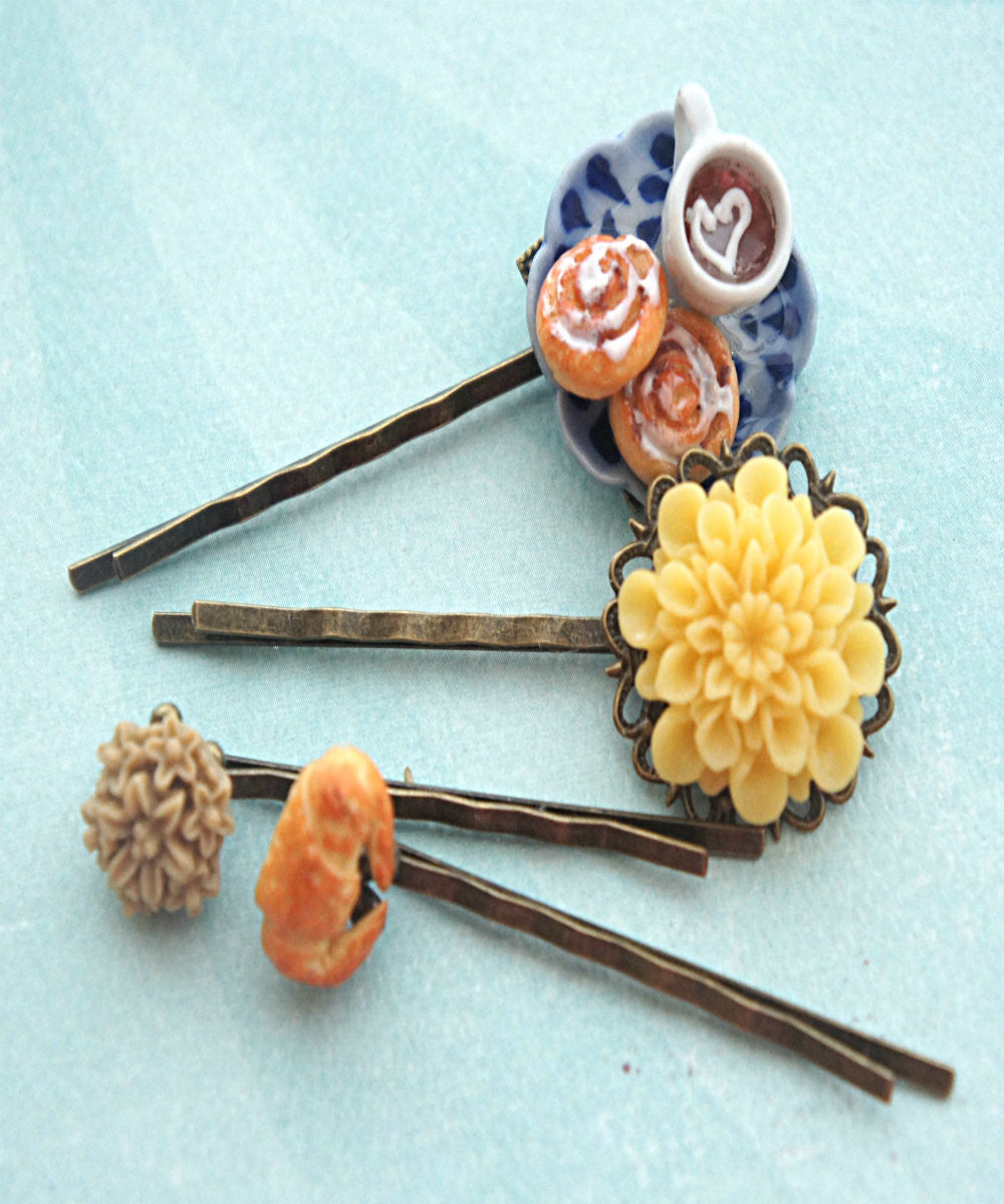 Afternoon Tea Filigree Hair Pins - Jillicious charms and accessories - 1