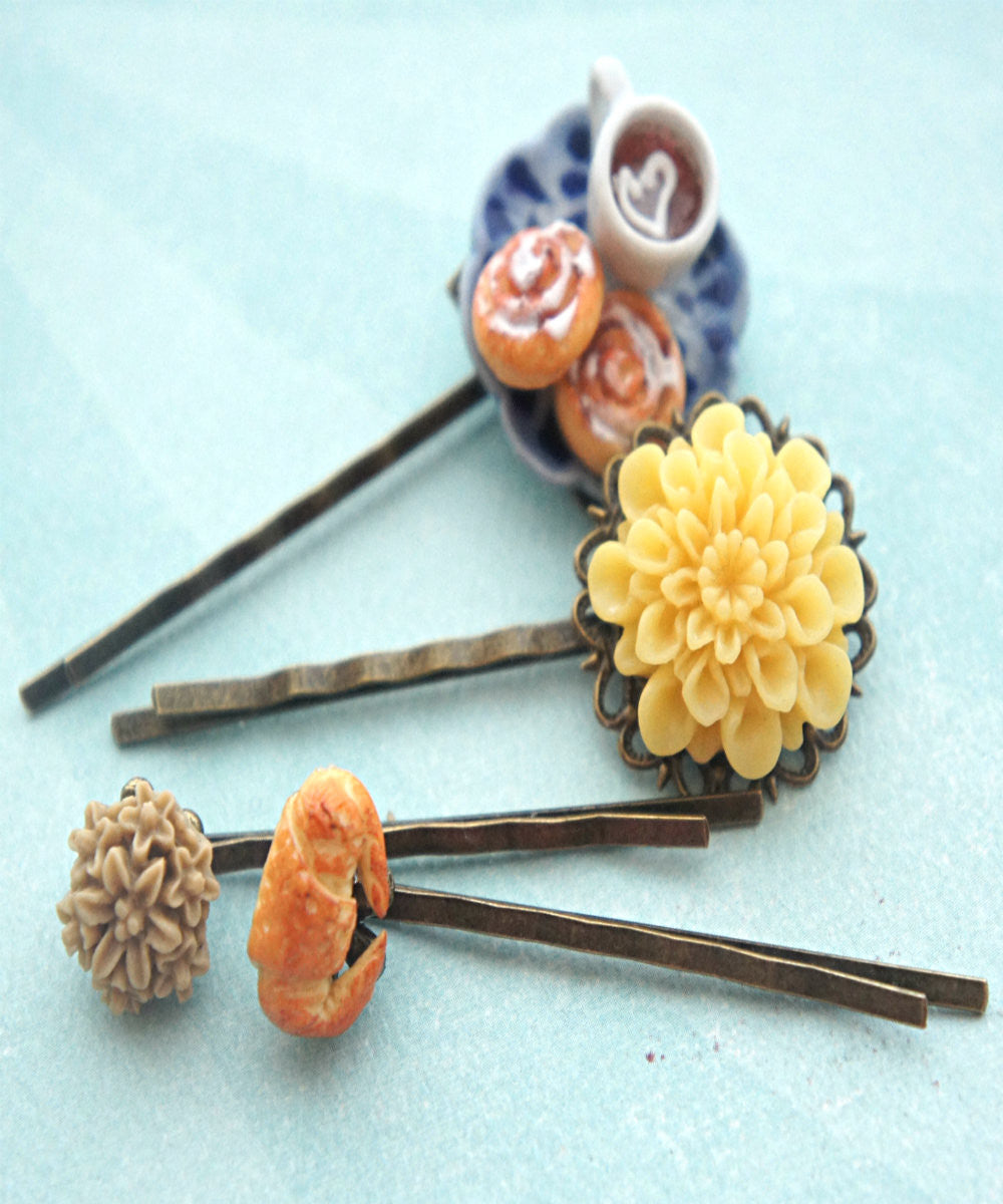 Afternoon Tea Filigree Hair Pins - Jillicious charms and accessories - 2