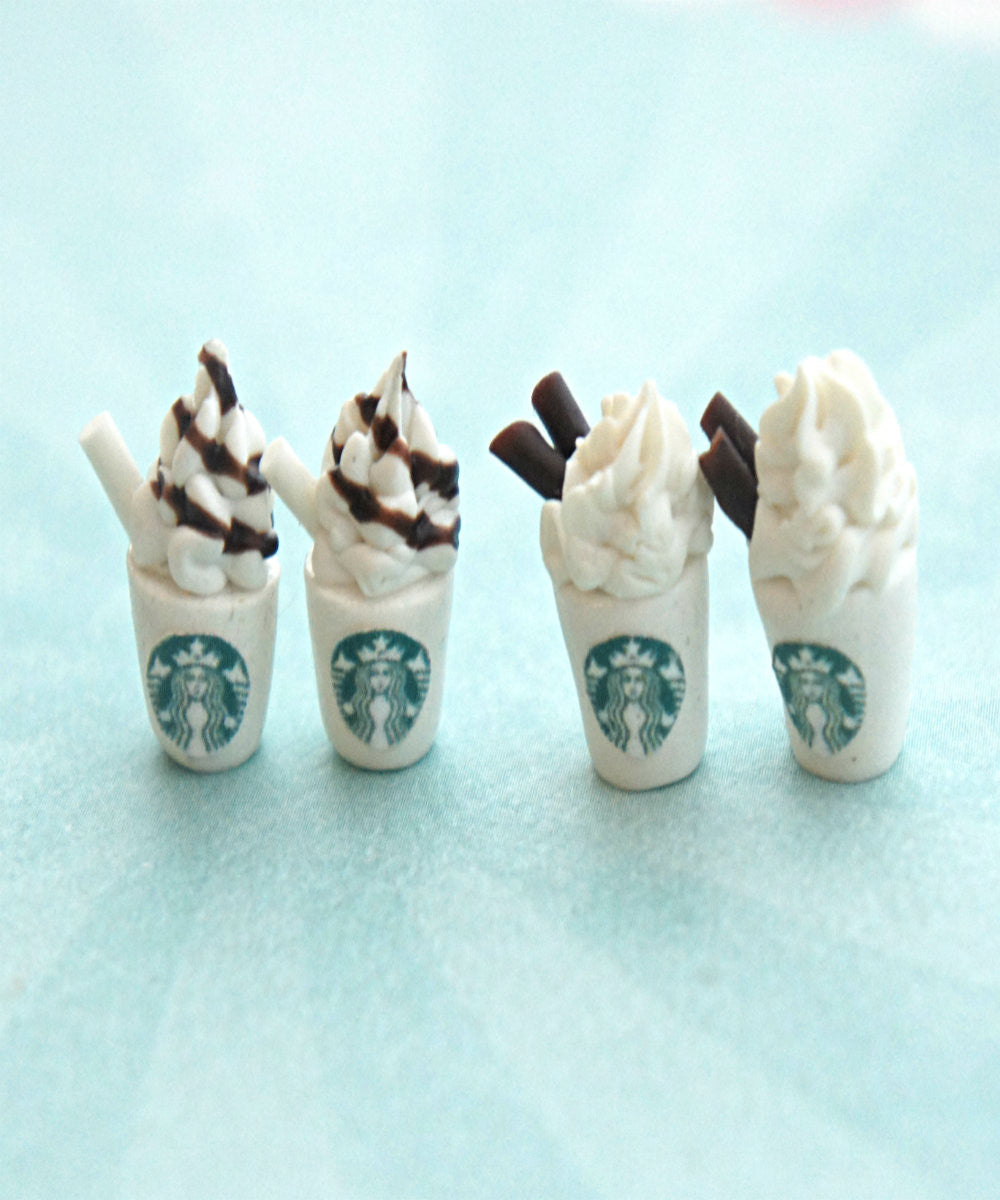 Starbucks Coffee Stud Earrings - Jillicious charms and accessories - 1