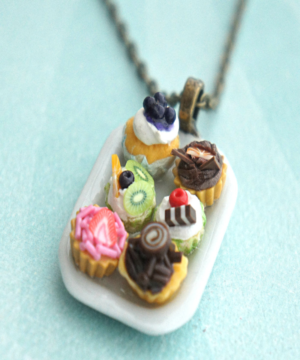 cupcake sampler necklace - Jillicious charms and accessories