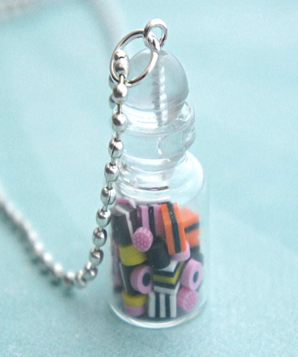 Licorice in a Jar Necklace - Jillicious charms and accessories