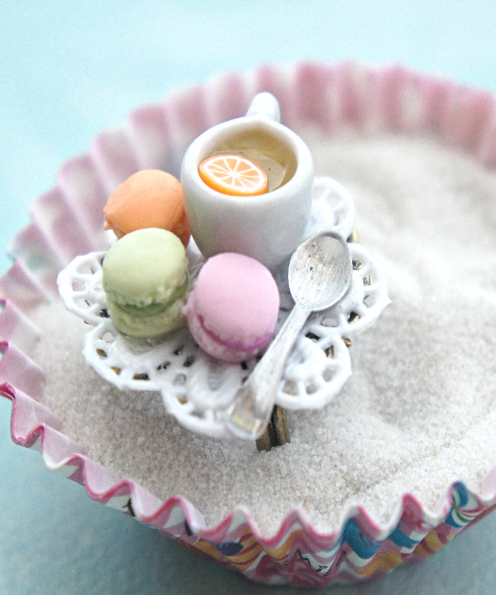 french macarons and tea ring - Jillicious charms and accessories - 1