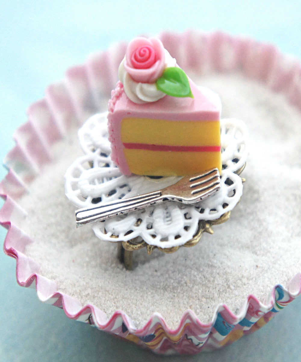 Strawberry Cake Slice Ring - Jillicious charms and accessories - 1