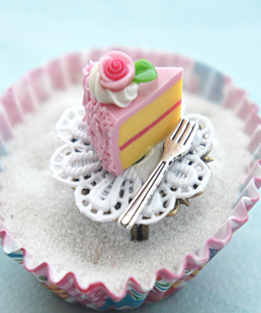 Strawberry Cake Slice Ring - Jillicious charms and accessories - 3