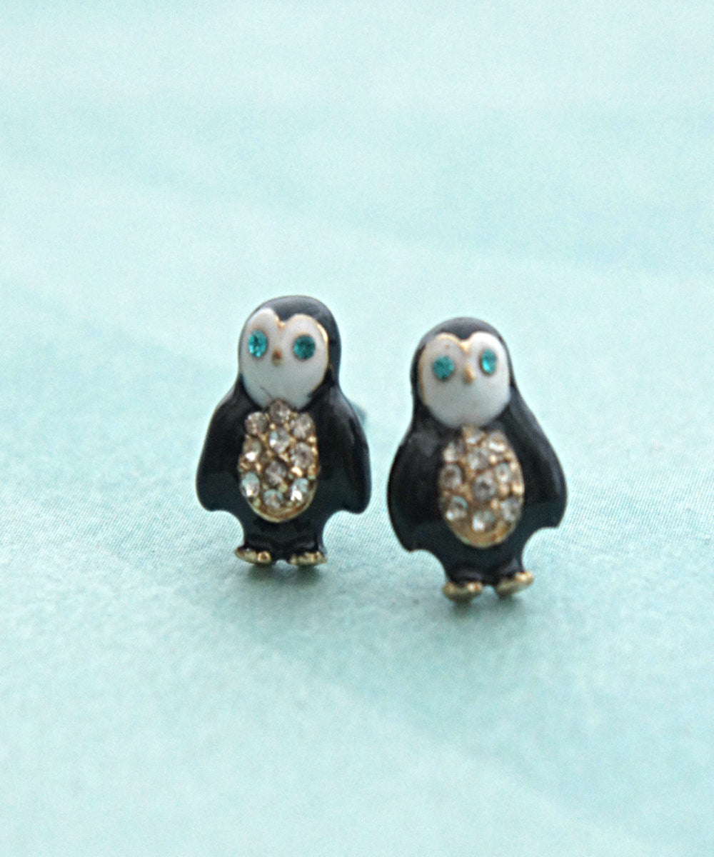 Penguin Stud Earrings - Jillicious charms and accessories
