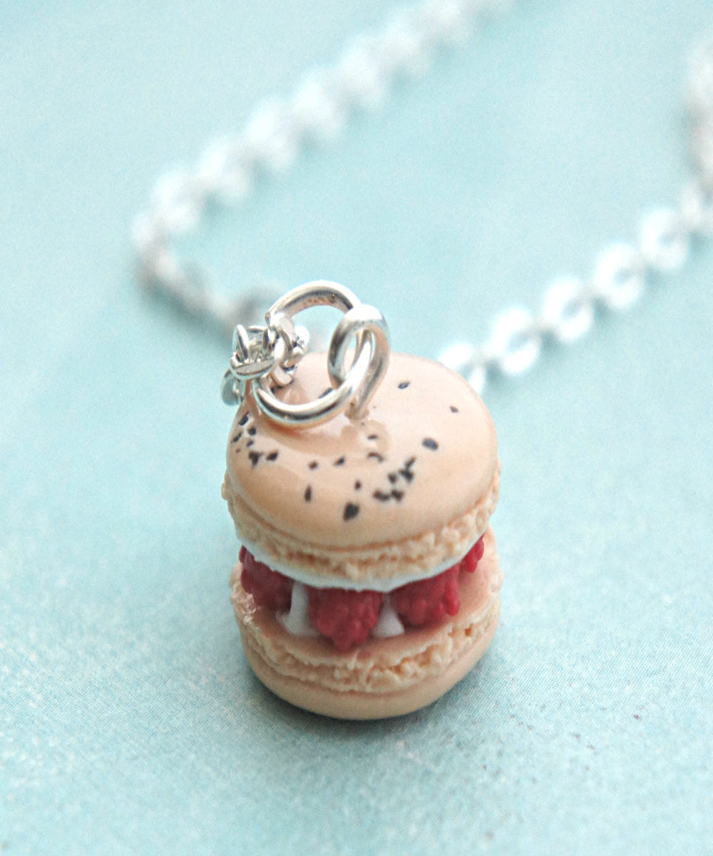 Raspberries and Cream French Macaron Necklace - Jillicious charms and accessories - 2