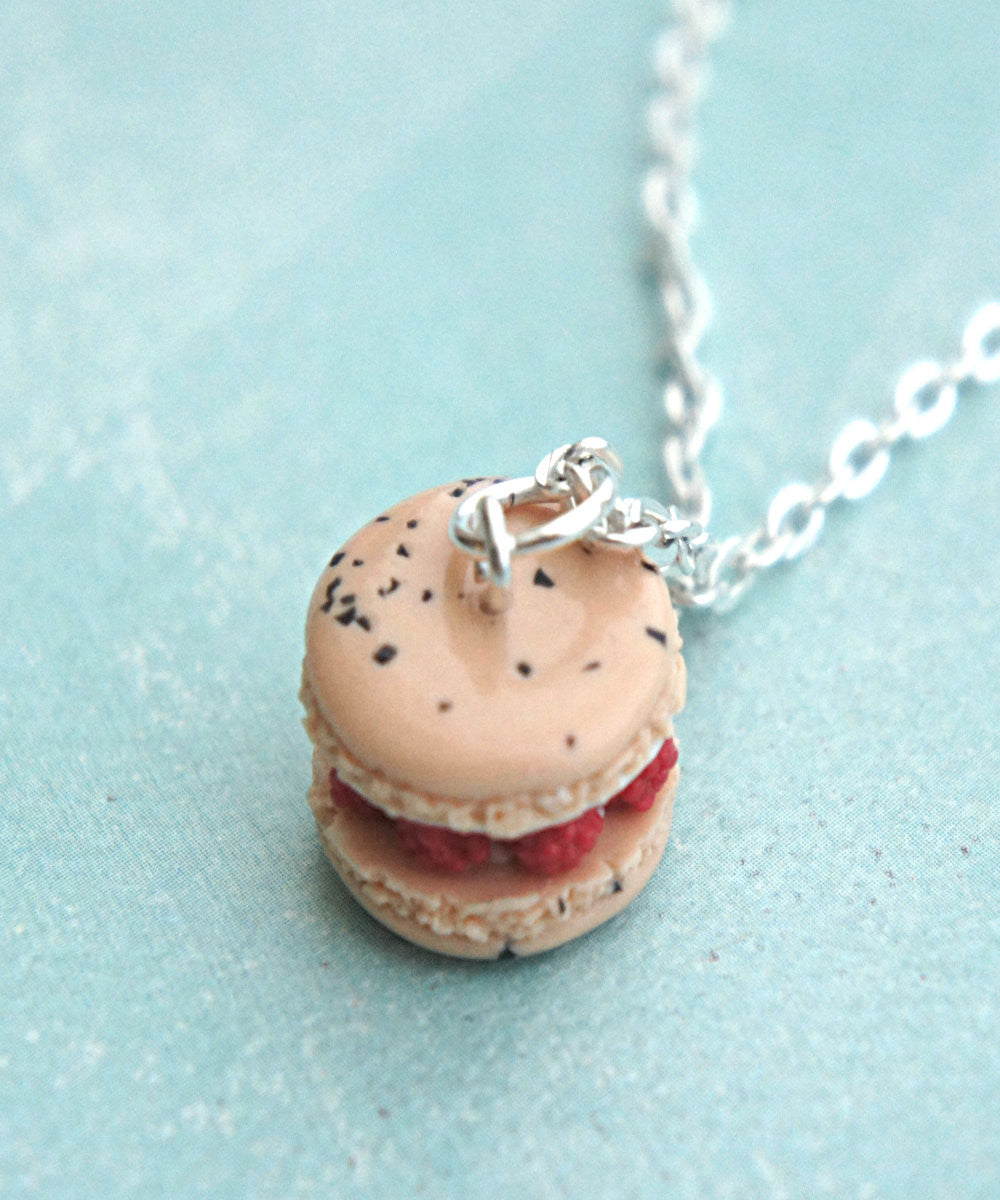 Raspberries and Cream French Macaron Necklace - Jillicious charms and accessories - 3