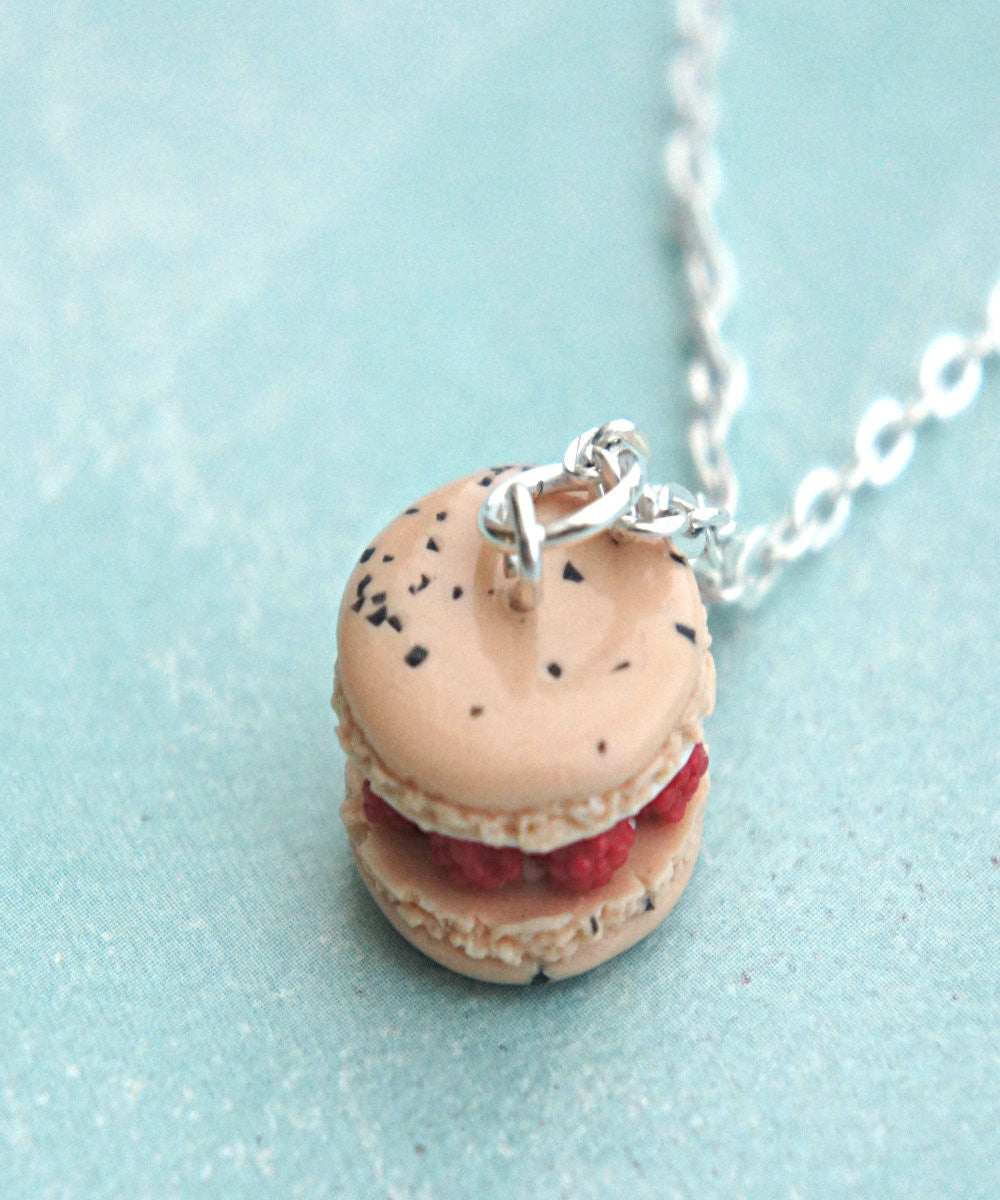 Raspberries and Cream French Macaron Necklace - Jillicious charms and accessories - 4