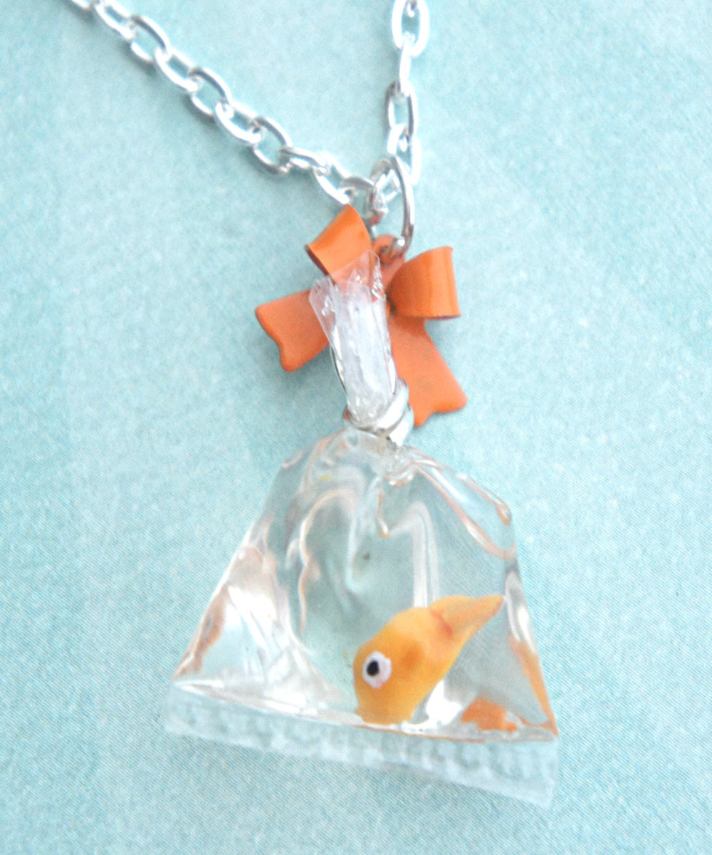 goldfish in a bag necklace - Jillicious charms and accessories - 1