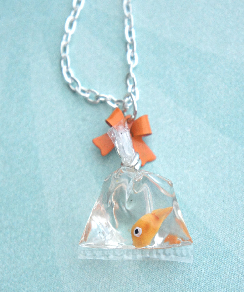 goldfish in a bag necklace - Jillicious charms and accessories - 2