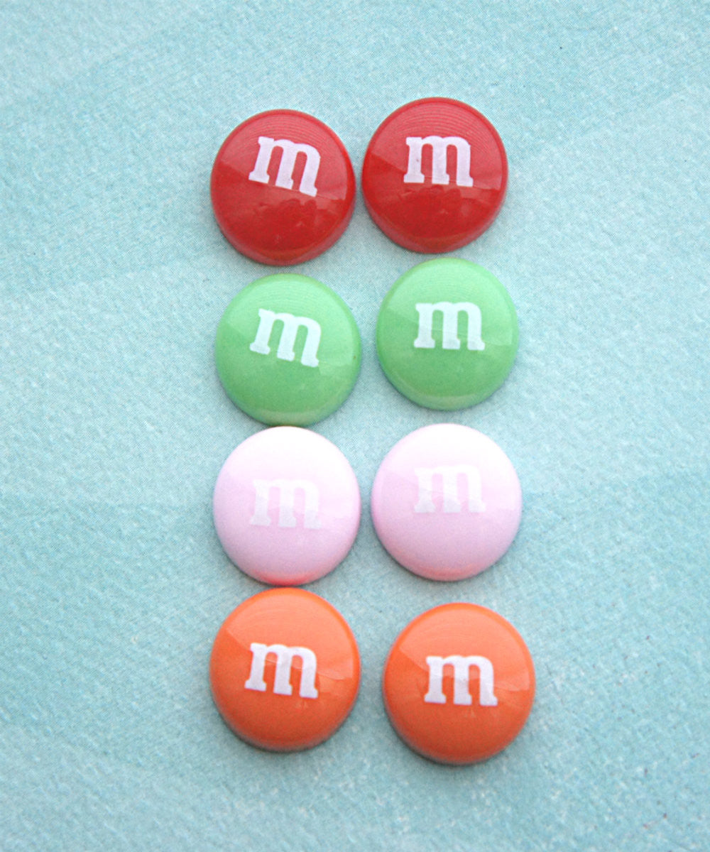 M&m's Candy Stud Earrings - Jillicious charms and accessories - 1