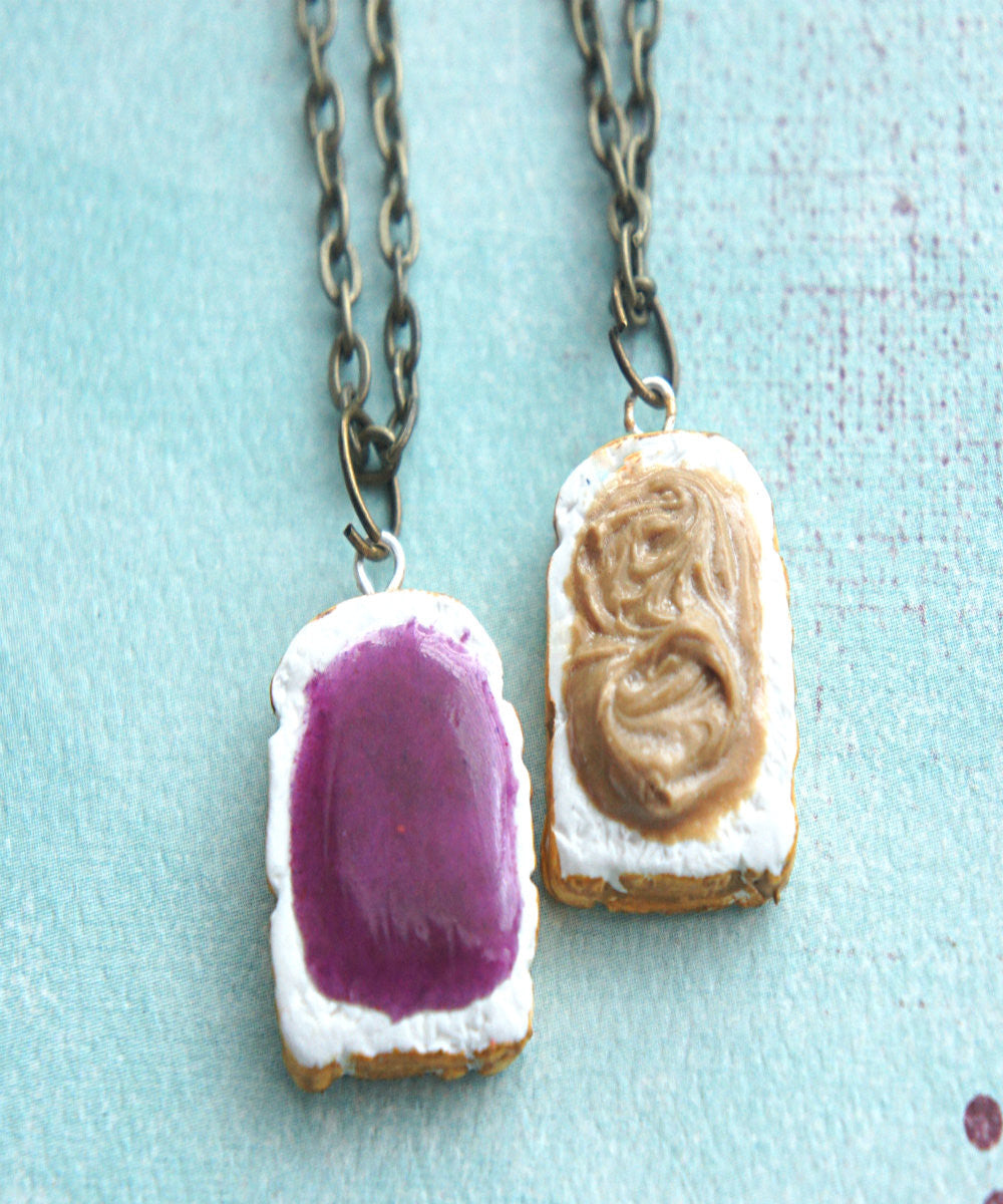 Peanut Butter and Jelly Toasts Friendship Necklace Set - Jillicious charms and accessories - 1