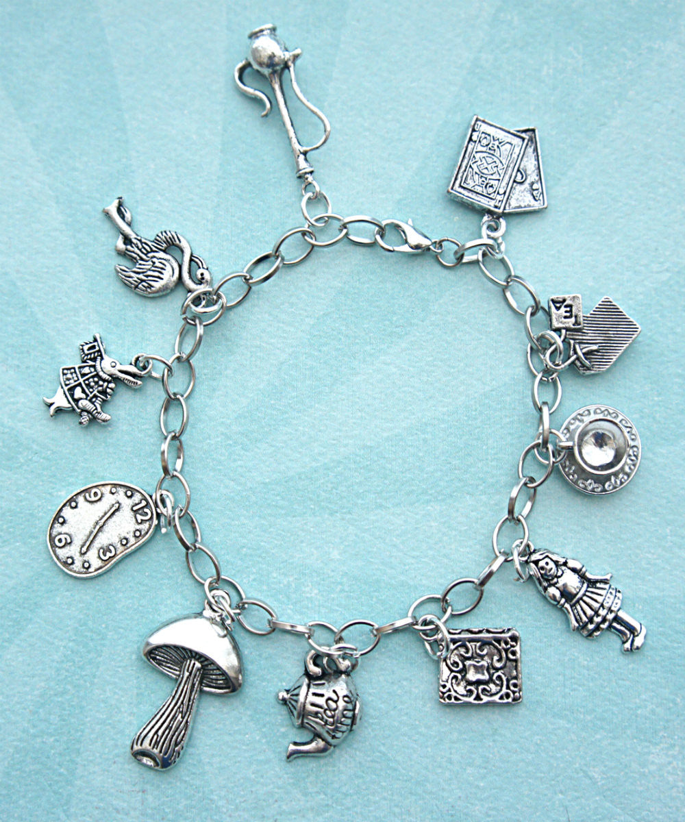 Alice in Wonderland Inspired Charm Bracelet - Jillicious charms and accessories