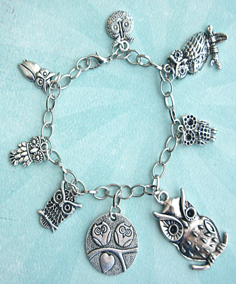 Owl Charm Bracelet - Jillicious charms and accessories