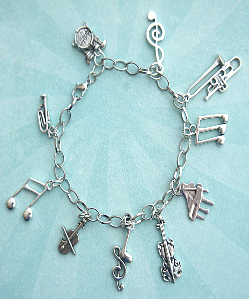 Music Lover Charm Bracelet - Jillicious charms and accessories