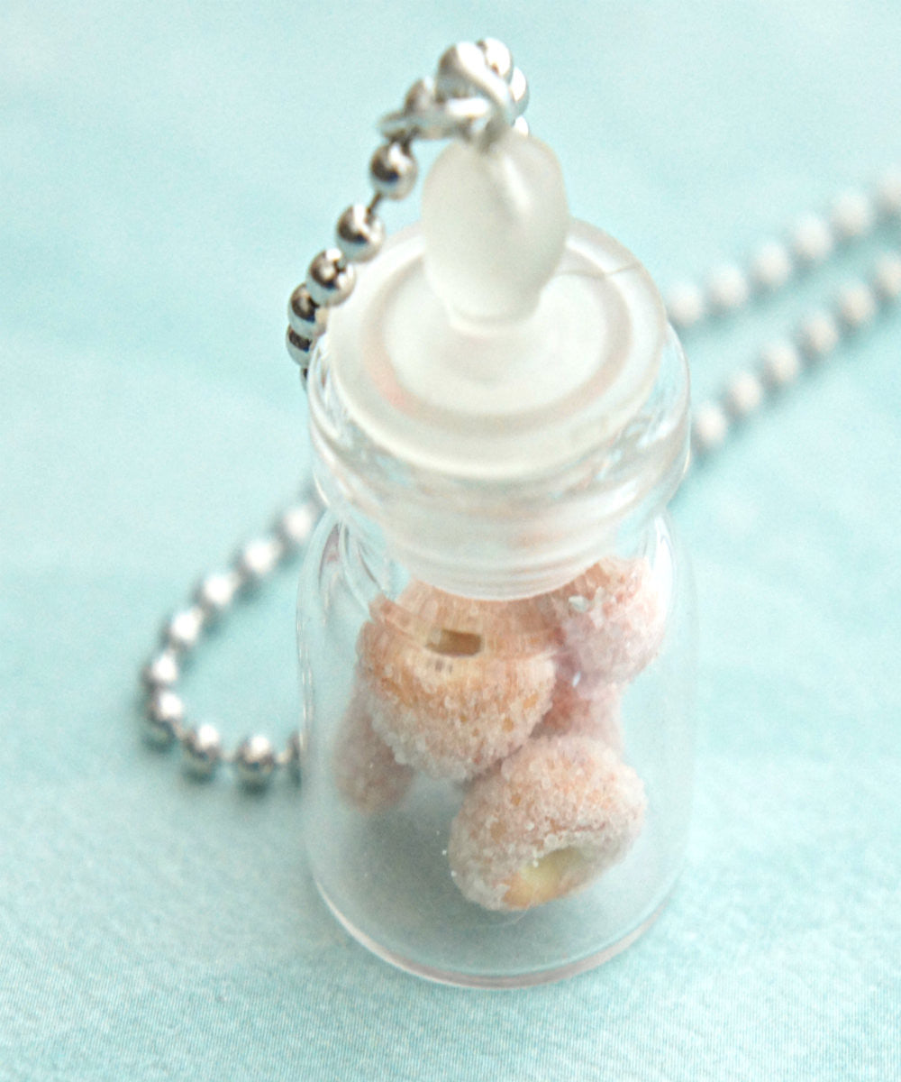 Sugar Donuts in a Jar Necklace - Jillicious charms and accessories - 1