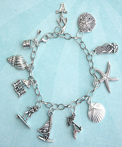 Beach Themed Charm Bracelet - Jillicious charms and accessories