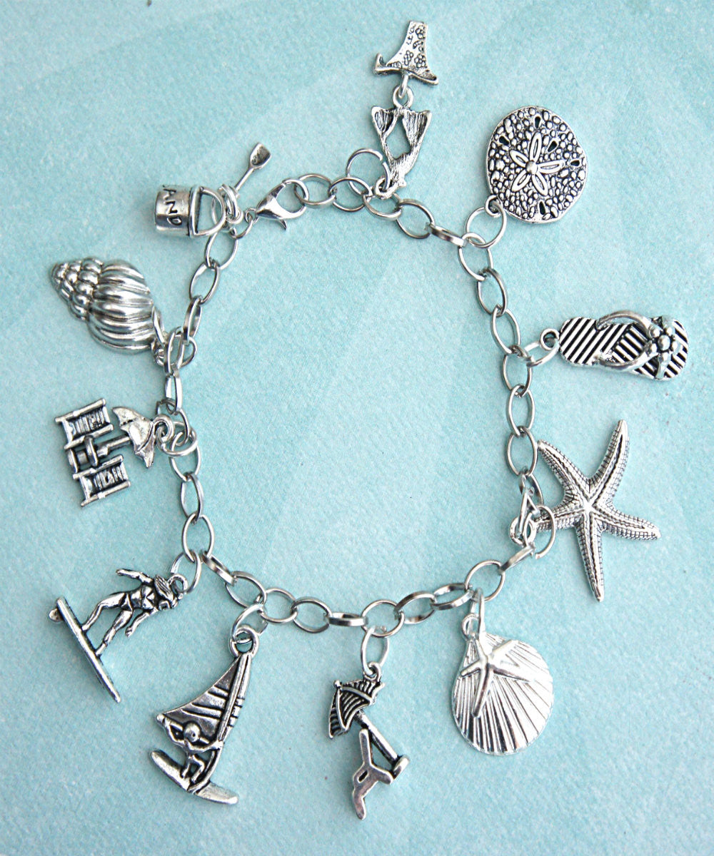 Beach Themed Charm Bracelet - Jillicious charms and accessories - 2