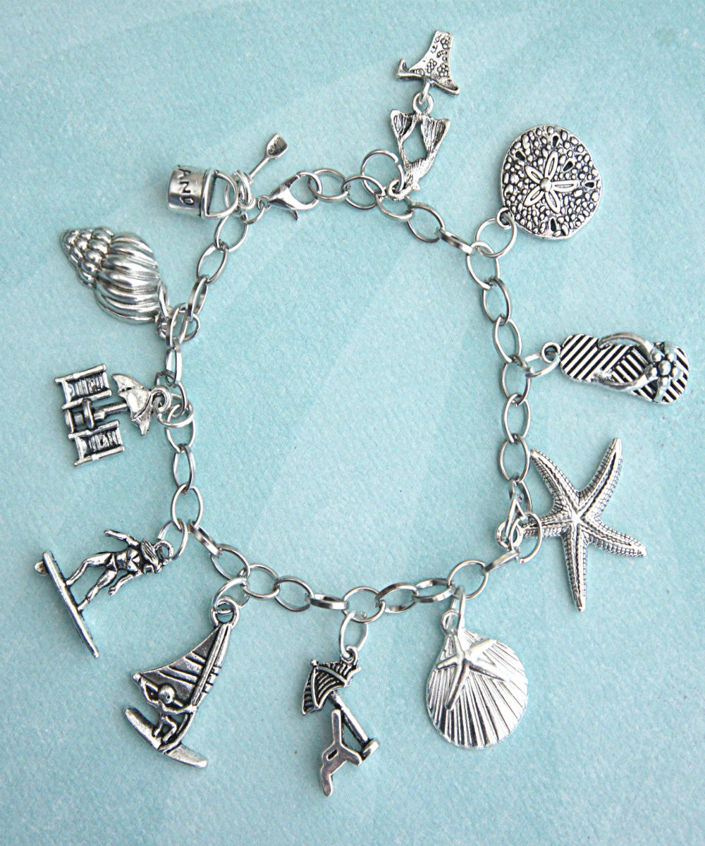 Beach Themed Charm Bracelet - Jillicious charms and accessories - 3