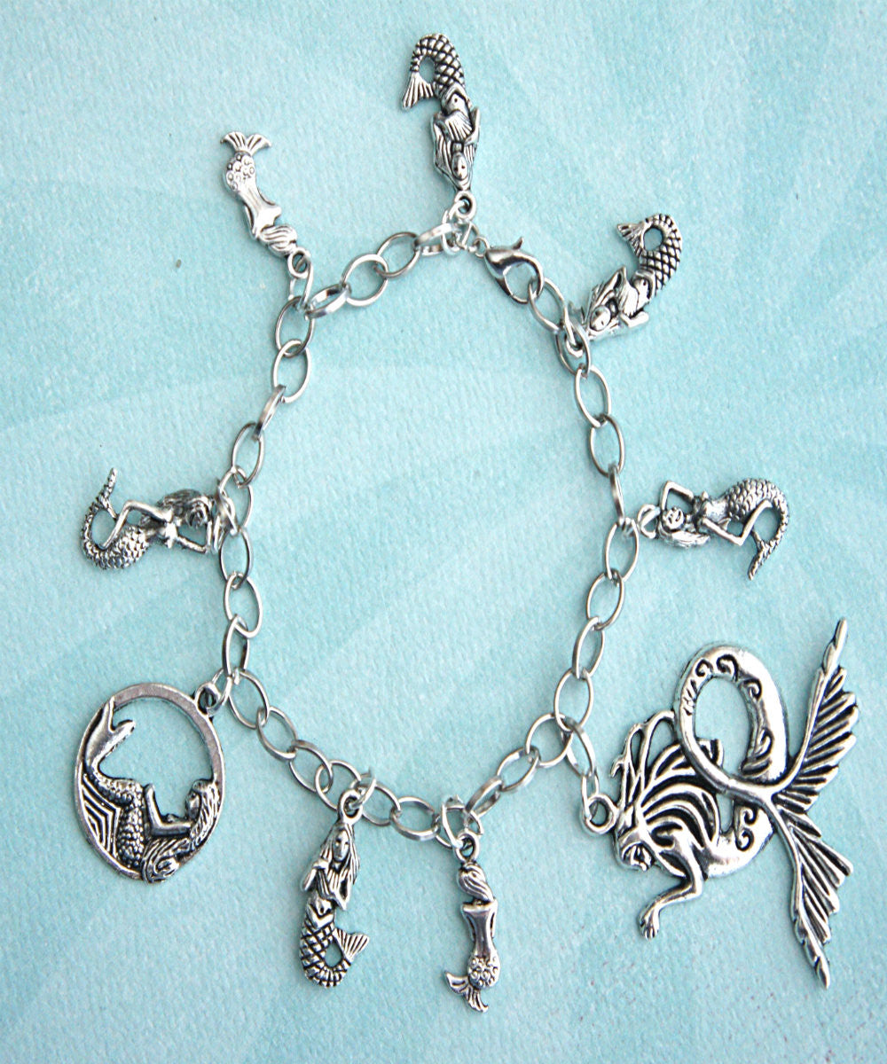 Mermaid Charm Bracelet - Jillicious charms and accessories