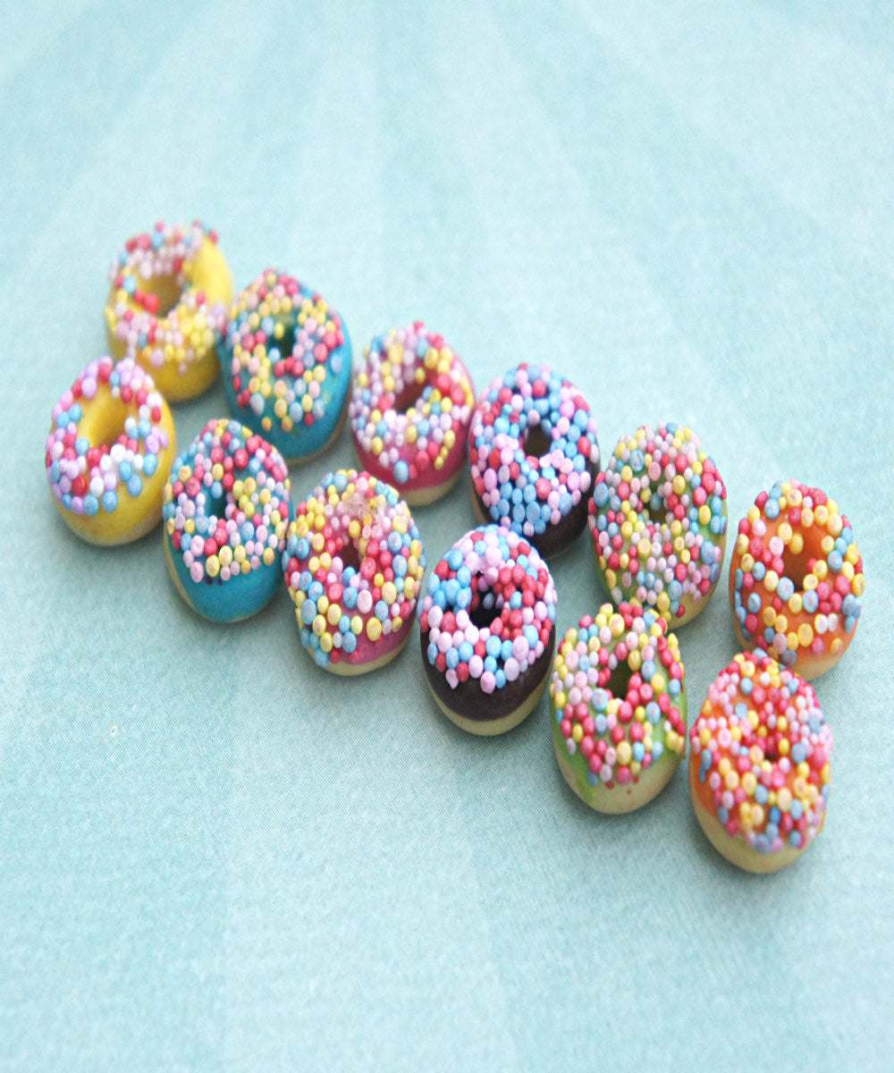 Candy Sprinkle Donut Earrings - Jillicious charms and accessories - 2